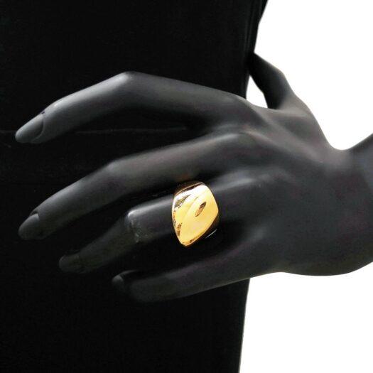 Anello Artlinea in Oro Giallo Fascia Sfaccettata - Glam - AP136-LG