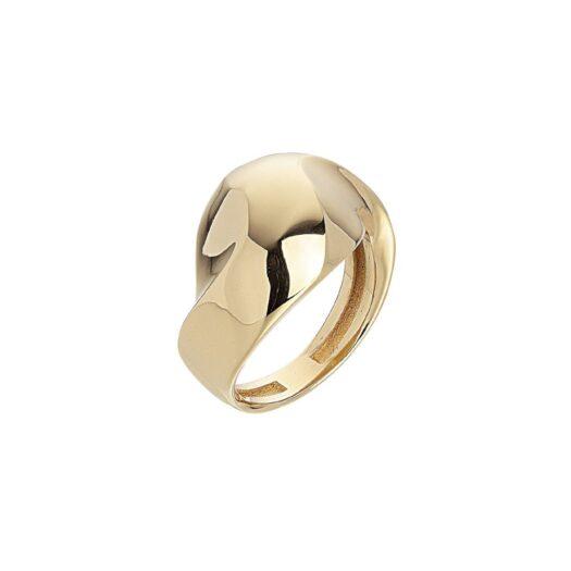 Anello Artlinea in Oro Giallo Fascia Sfaccettata - Glam - AP137-LG