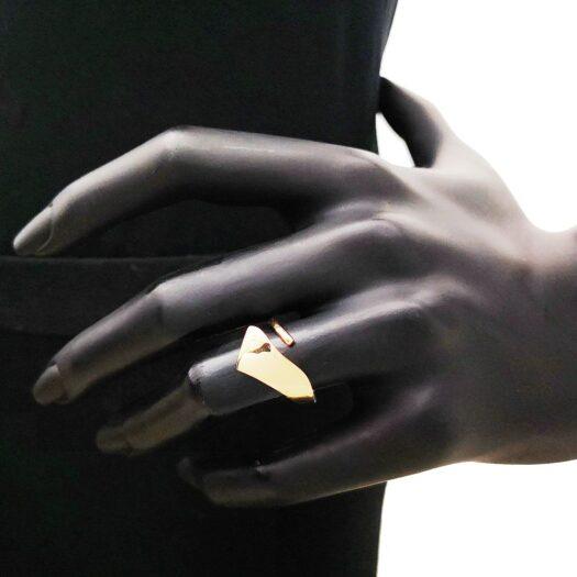 Anello Artlinea in Oro Rosa Fascia Squadrata - Glam - AP209