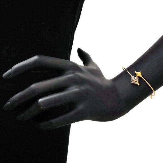 Bracciale Artlinea in Oro Giallo e Bianco - Glam - BCA443-LN