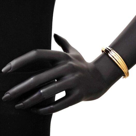 Bracciale Artlinea in Oro Giallo Ondulato - Glam - BP005-LG