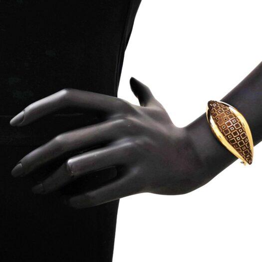 Bracciale Artlinea in Oro Giallo Geometrico - Glam - BP023-LG
