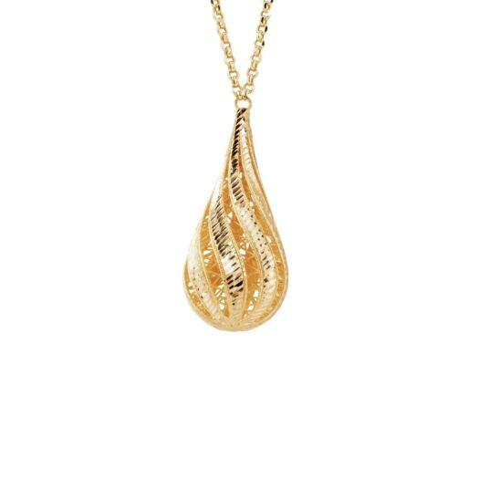 Collana Artlinea in Oro Giallo Goccia Grande - Glam - CEA2065-LG