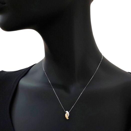 Collana Artlinea in Oro Giallo e Bianco - Mini Parure - CEA2551-LN