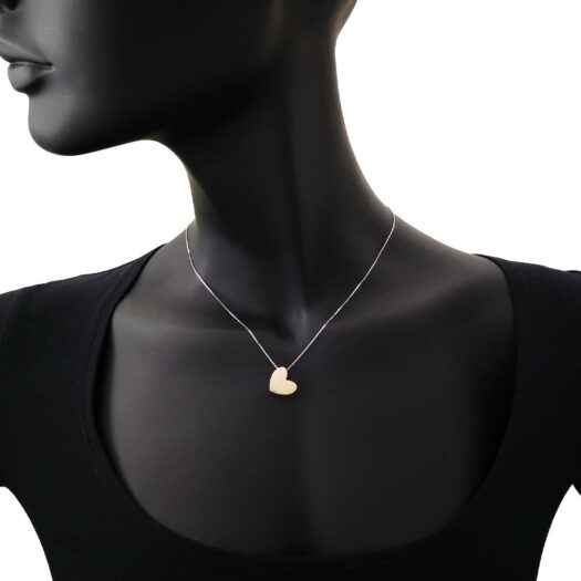 Collana Artlinea in Oro Bicolore Cuore Grande - Glam - CEA4328