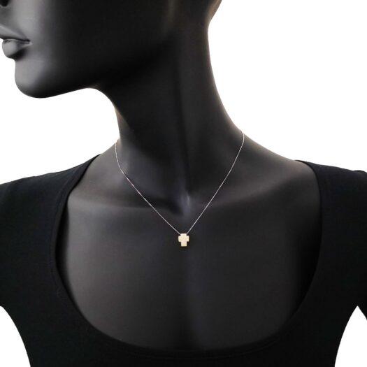 Collana Artlinea in Oro Bicolore Croce Piccola - Glam - CEA4331