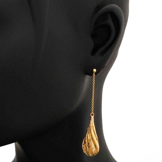 Orecchini Artlinea in Oro Giallo Goccia - Glam - OE4092-LG