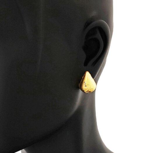 Orecchini Artlinea in Oro Giallo | Goccia Floreale Grande - Glam - OP0008