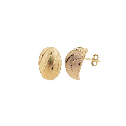 Orecchini Artlinea in Oro Giallo | Goccia Ricamata Grande - Glam - OP0010