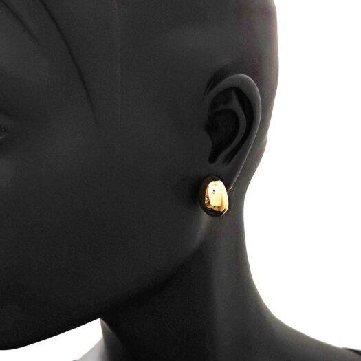Orecchini Artlinea in Oro Giallo | Ovale Grande - Glam - OP0014