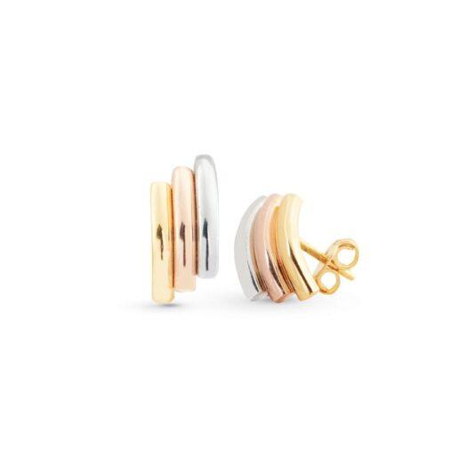 Orecchini Artlinea in Oro 18 Kt 3 Colori - Glam - OP0056-L2