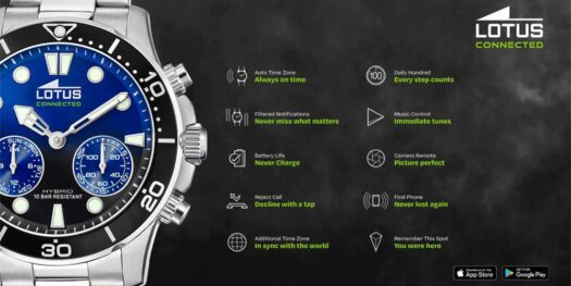 Orologio Smartwatch Lotus in Acciaio - Hybrid Connected
