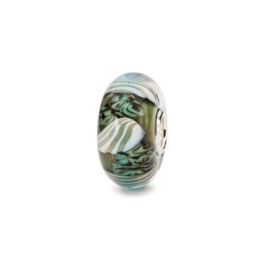 Beads Trollbeads in Argento e Vetro di Murano - Conchiglie Marine - TGLBE-20280