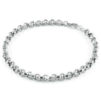 Collana Unoaerre in Argento con Catena Diamantata - Silver - 5485