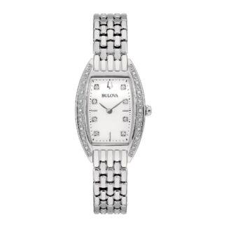 Orologio Solo Tempo Bulova in Acciaio con Diamanti - Classic Lady - 96R244