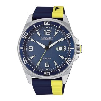 Orologio Solo Tempo Vagary in Acciaio e Gomma - Aqua39 - IB8-810-70