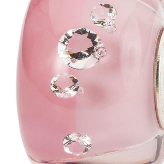 Beads Trollbeads in Argento e Vetro di Murano - Diamante del Romanticismo - TGLBE-00212