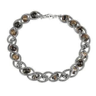 Composizione Collana Trollbeads in Argento e Vetro di Murano | Intreccio d'Emozioni - CLCOMPTB