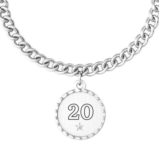 Bracciale Kidult in Acciaio 20° Buon Compleanno - Special Moments - 731950
