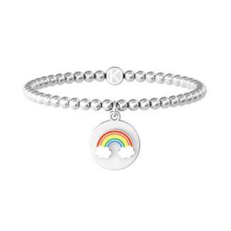 Bracciale Kidult in Acciaio Arcobaleno Think Positive - Symbols - 731962