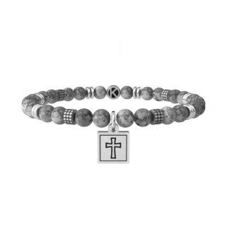 Bracciale Kidult in Acciaio e Pietre Croce   Faith - Spirituality - 731987