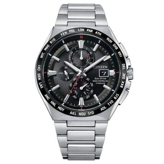 Orologio Eco Drive Cronografo Citizen in Super Titanio - AT8234-85E