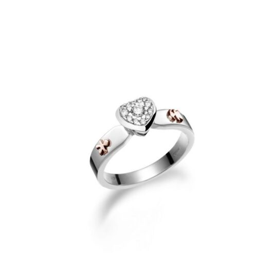 Anello Le Bebé in Oro Bianco con Diamanti | Bimbo e Bimba - Gli Amori - LBB117