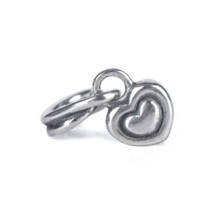 Beads Trollbeads in Argento - Pendente Cuore nel Cuore - TAGBE-00258