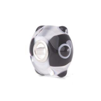 Beads Trollbeads in Argento e Vetro di Murano - Pois Panda - TGLBE-20271