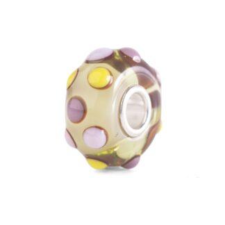 Beads Trollbeads in Argento e Vetro di Murano - Pois Tropicale - TGLBE-20274