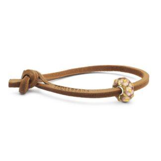 Bracciale Trollbeads in Cuoio con Bead - Regalo per Lei - TLEBO-00246