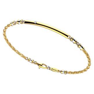 Bracciale Zancan in Oro Giallo e Bianco con Diamante - Insignia Gold - EB704GB