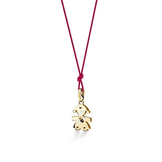 Ciondolo Le Bebé Bimba in Oro Giallo con Quarzo Citrino Ape - Lovely - LBB581