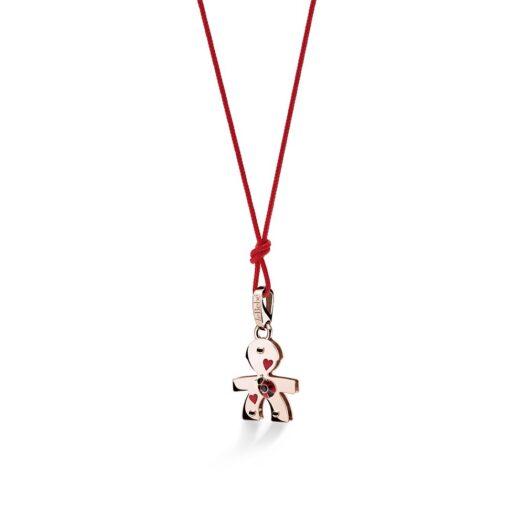 Ciondolo Le Bebé Bimbo in Oro Rosa con Spinello Coccinella - Lovely - LBB584