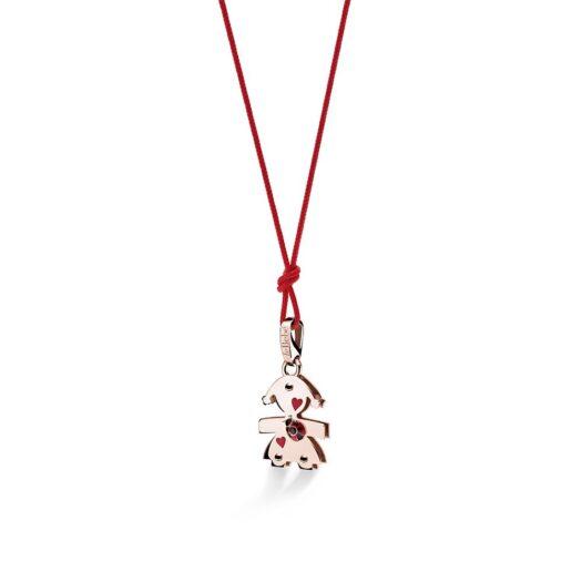 Ciondolo Le Bebé Bimba in Oro Rosa con Spinello Coccinella - Lovely - LBB585
